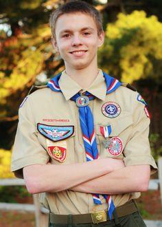 Eagle Scout portrait of my son Parker.