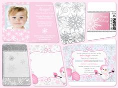Pink Winter One-derland is such a cute theme for a little girl's 1st Birthday party!