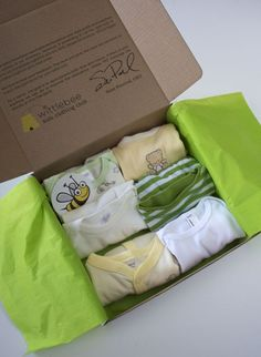 Give the best baby gift: a box full of cute clothes every 3 months. I would have LOVED this <3