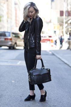 Laid-back in black