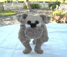 I can make any color sock bulldog to match your own!!  Sock English Bulldog by DeedleDeeCreations on Etsy, $25.00