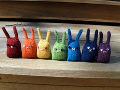 McA inspiration for my creating - #mcadirect knit rainbow bunnies - http://www.rebeccadanger.typepad.com/dangercraftsbunnynuggetknittingpattern.pdf