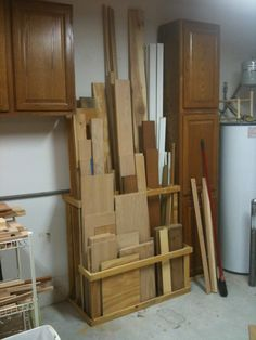 wood storage / smaller footprint for tighter spaces