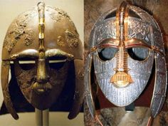 Iron helmet from Sutton Hoo, the Anglo-Saxon burial site. Belonged to King Raedwald ca 625 CE