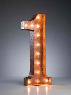 Vintage Marquee Numbers Lights.