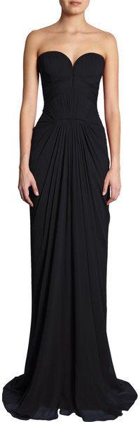 J. Mendel Sweetheart Bodice Gown