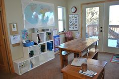 Homeschool room decor and ideas!