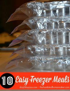 10 Easy Freezer Meals {Including a Family Favorite} - The Humbled Homemaker meal includ, easy freezer meal recipes, family freezer meals, freezer meals recipes, freezer meals easy, easy meal, easy freezer meals