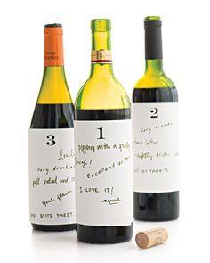 Wine tasting idea