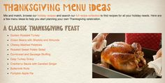 Click here for 5 complete menu ideas... from totally traditional to completely vegetarian! #holiday #recipe #Thanksgiving complet menu, tradit thanksgiv, thanksgiving menu, menu idea, thanksgiv menu, holiday recipes, complet vegetarian