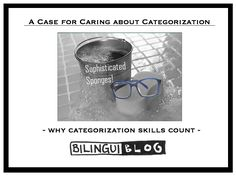 "A Case For Caring About Categorization (Your other CCC's) - ""Categorization is a pivotal skill.  Once a child knows how to do this, he is catapulted to the next level of language ability.  He can now describe, compare and contrast.  From a functional standpoint, being able to put objects into categories is a big deal."""