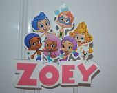 Bubble Guppies PERSONALIZED cake topper or ANY character