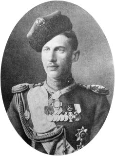 Prince John Constantinovich of Russia  (1886-1918), sometimes also known as Prince Ioann, was the eldest son of Grand Duke Constantine Constantinovich of Russia by his wife Elisaveta Mavrikievna, née Princess Elisabeth of Saxe-Altenburg. He was described by contemporaries as a gentle, religious person, nicknamed Ioannchik by his relatives. In April 1918 he was exiled to the Urals by the Bolsheviks, & later murdered in July the same year along with his brothers the Princes Constantine & Igor