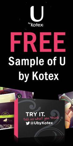 Free Sample of U by Kotex