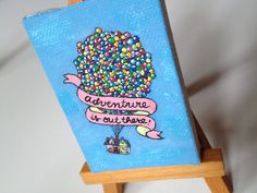 Disney Pixar UP Mini Canvas Painting by clementineclay on Etsy, $26.00