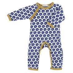 anchor print romper from organics for kids