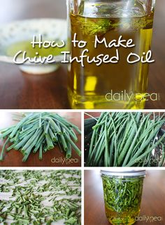 How to Make Chive Infused Oil @ DailyPea.com