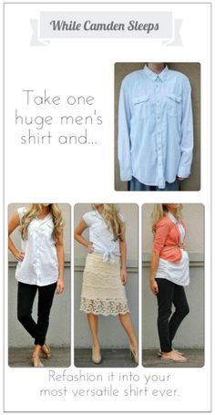 EAsy #refashion #mens - how to style from @Kara Morehouse Morehouse Morehouse Muehlmann