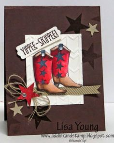 Add Ink and Stamp: Yippee - Skippee Cowgirl!