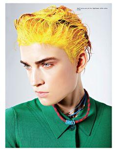 fashion, lead head, inspir, magazines, beauti, jana knauerova, yellow, hair color, kurv 26
