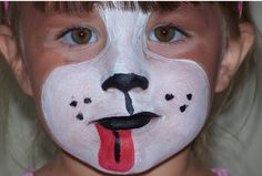 birthday parti, face paintings, puppy face, facepaint, paint design, puppi, dog, kid, face painting designs
