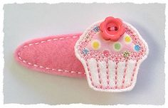 Button Cupcake FELT STITCHIES (in the hoop)