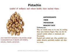 Pistachio (pista ) - Nutrition Facts And Health Benefits ◬
