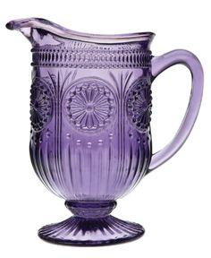 purple depression glass pitcher