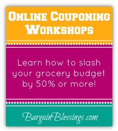 Want to learn the art of couponing? I'm so excited to announce that Bargain Blessings is now offering online couponing webinars!
