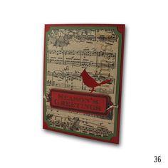 2012 Holiday 36 Kraft Cardinal Tag Card