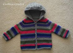 Toddler Sweater -- easy and simple -- free crochet pattern from cre8tioncochet.com