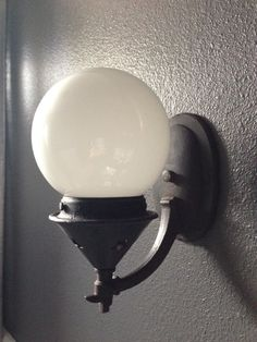 1920s Sconce: D&W Vintage Lighting  Blown Glass Globe: FrenchVintageTherapy, Etsy