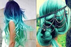 teal jewelry   teal hair ombre jewelry