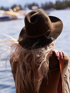 Free People Wardell Distressed Felt Hat