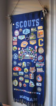 Banner for displaying Scout badges and patches