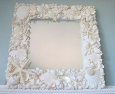 Beach Decor Seashell Mirror