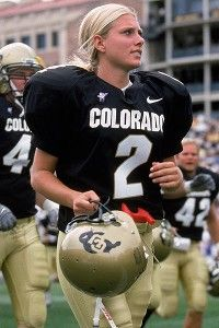 Katie Hnida, former Colorado player, went on to kick for New Mexico after revealing the abuse she went through as a female football kicker.