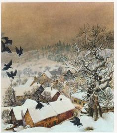 Otto Dix(German,1891-1969)  Randegg in the Snow with Ravens  1935