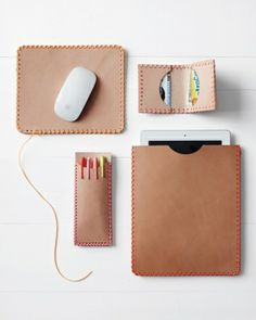 DIY leather crafts for Dad's technology