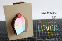 Accordion Lever Cards (Flip card) tutorial