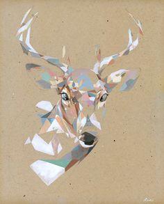 Geometric Deer Print