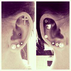 earrings. piercings. ear piercings. helix. conch. cartilage. lobes.