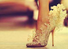 Shoes like Cinderella.
