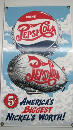 Vintage reproduction Pepsi sign!