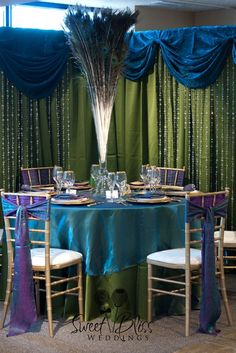 """Arabian Nights"" tablescape #Indian #Wedding #Peacock XinaFrizzell"