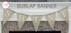 burlap banner diy