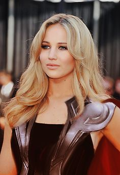 Jennifer Lawrence, Thor.  Fantastic nerd awesomeness aside, I absolutely envision Mother looking like this.  Strong, stunning, symbolically armored and prepared to fight the world's battles for goodness, still utterly feminine and strong.