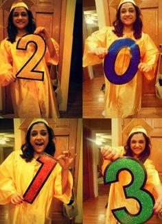 Fun graduation picture! Dollar store cut outs. #graduation #2013 #classof2013
