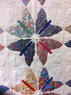 Butterfly quilting. Simple butterflies nice arrangement