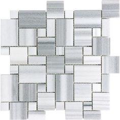 Anatolia - Polished Fluid Mini Versailles Mosaics - 76-333 - Home Depot Canada